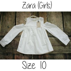 NWT Zara Girls White Off the Shoulder Top